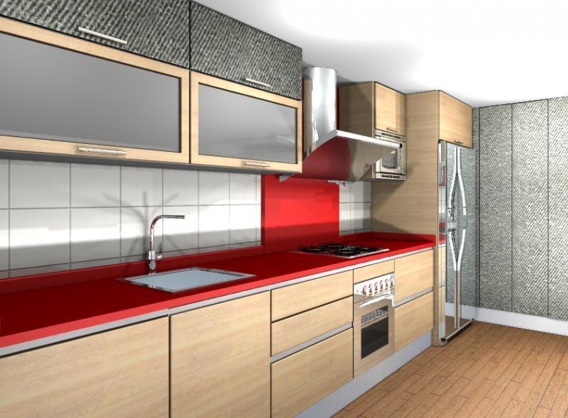 Dise o melamina combinada cocinas murcia for Cocinas colores combinados