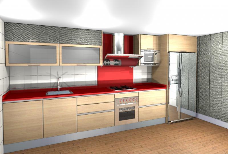 Cocinas en melamina combinada cocinas murcia - Materiales de cocinas ...