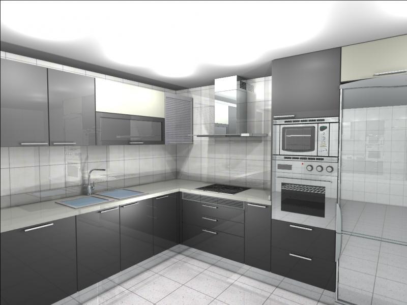 Cocina en color gris y blanco | Cocinas Murcia