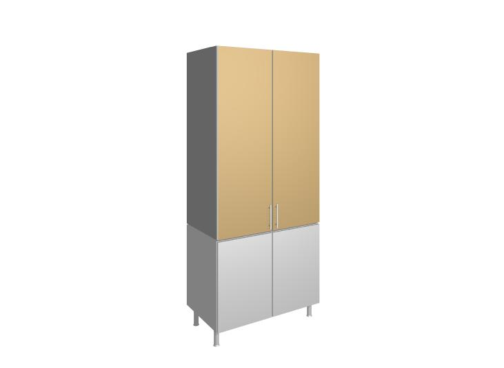 Módulo Mueble De Cocina Columna Despensero 2 Puertas
